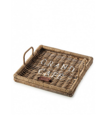 Rustic Rattan Morning Tray 30x30