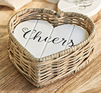Rustic Rattan Hear Coasters