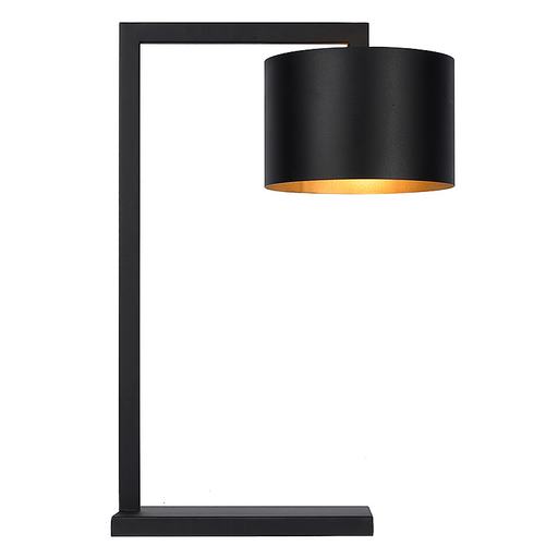 Table Lamp black/gold inside