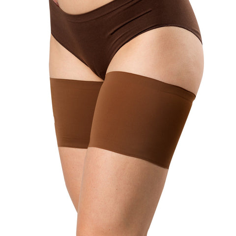 Bandelettes UNISEX  - Elastic Anti-Chafing Thigh Bands Brown