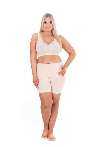 Sonsee plus size  anti chafing shorts nude