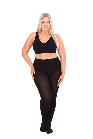 Sonsee Plus size 100 den black tights