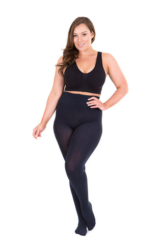 Sonsee Plus size navy blue tights 100den