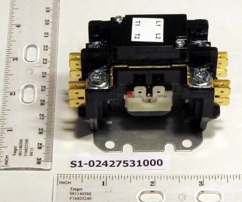 York S1-02427531000 1 Pole Contactor w/ Shunt (24V, 30A)-HVAC Parts Outlet