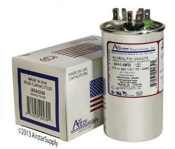 Goodman CAP050400440RTP 440V Dual Round Capacitor (40/5 MFD)-HVAC Parts Outlet