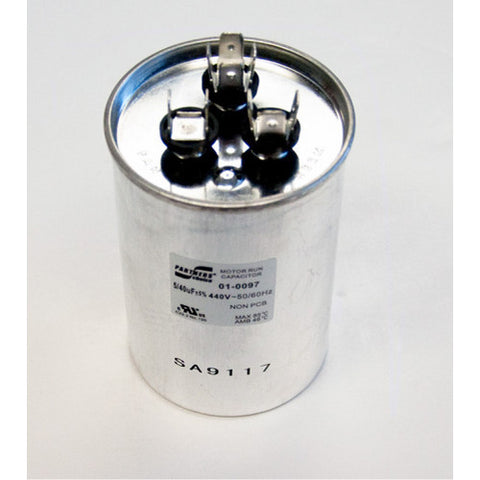 Nordyne 40/5 MFD Round Dual Capacity Capacitor (440V) 01-0097-HVAC Parts Outlet