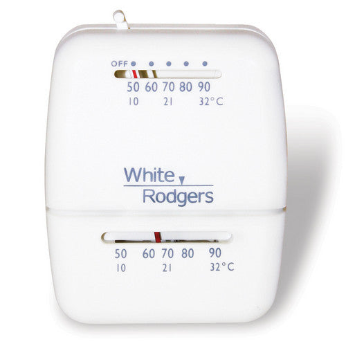 White Rodgers Single-Stage Snap-Action Low voltage room thermostat (with wall mount) 1C20-101-HVAC Parts Outlet