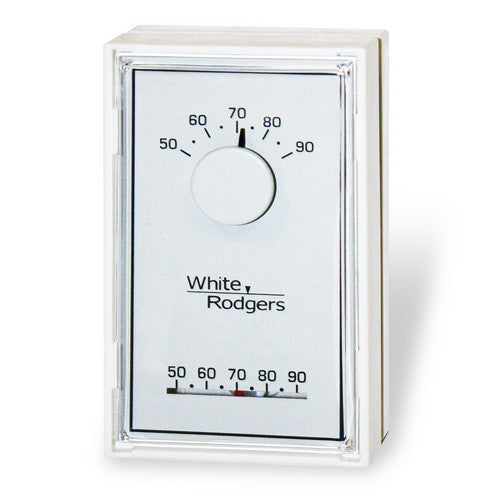 White Rodgers Single Stage Mechanical Thermostat, Vertical, Mercury Free (Heat Only) 1E30N-910-HVAC Parts Outlet