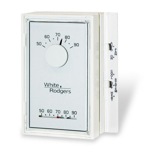 White Rodgers Single Stage Mechanical Thermostat, Vertical, Mercury Free (1H/1C) 1E56N-444-HVAC Parts Outlet