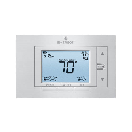"White Rodgers 5"" Display Universal 7-Day Programmable Thermostat, 2 Heat/2 Cool 1F85U-22PR-HVAC Parts Outlet"