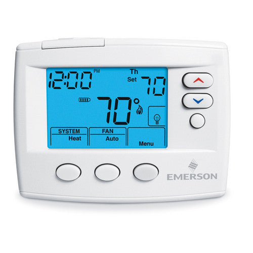White Rodgers 80 Series Non-Programmable, 1H/1C, Blue Digital Thermostat 1F86-0471