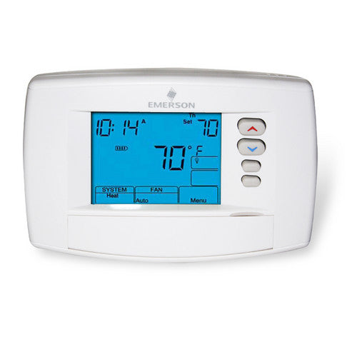"White Rodgers Universal Staging, 7-Day Programmable Thermostat, 6"" Display, 24V or Millivolt system 1F95-0680-HVAC Parts Outlet"