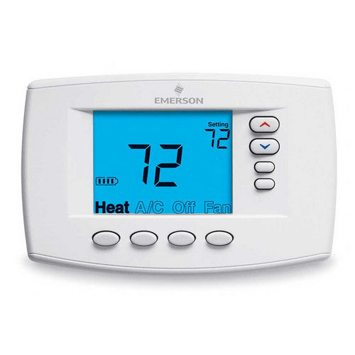 White Rodgers Programmable, 4H/2C, Easy Reader Blue Digital Thermostat 1F95EZ-0671-HVAC Parts Outlet