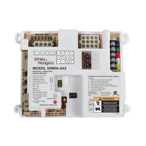 White Rodgers Universal Single Stage HSI Integrated Furnace Control Kit 50M56U-843-HVAC Parts Outlet