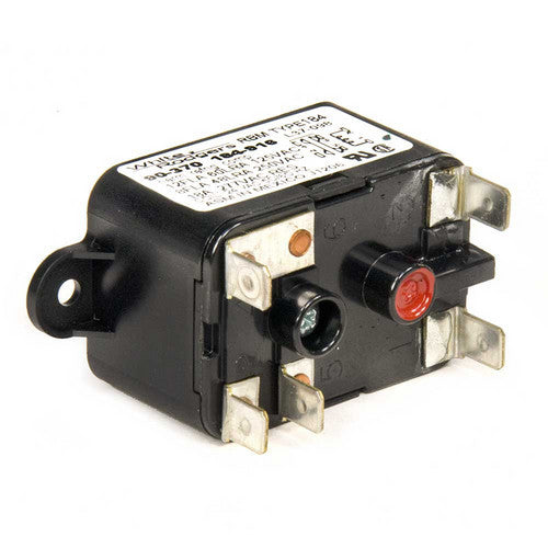 White Rodgers Fan Relay, Type 184, 24 VAC Coil, 50/60 Hz, SPDT. Coil Data: 77 Ohms DC Resistance, 125 mA 90-370