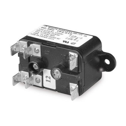 White Rodgers Fan Relay, Type 184, 24 VAC Coil, 50/60 Hz, SPNO/SPNC. Coil Data: 77 Ohms DC Resistance, 125 mA 90-380