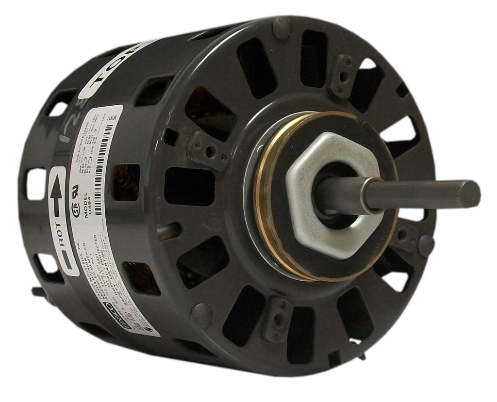 Fasco D491 , Direct Drive Blower Motor, 1/10 HP, 1050 RPM, 5.0 DIA, Open Fan Cooled, 115, 208-230V-HVAC Parts Outlet