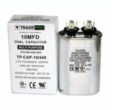 TradePro 10 uf 440 Volt Oval Run Capacitor TP-CAP-10/440-HVAC Parts Outlet