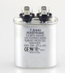 Carrier 7.5 uf 440 Volt Oval Run Capacitor P291-0754-HVAC Parts Outlet