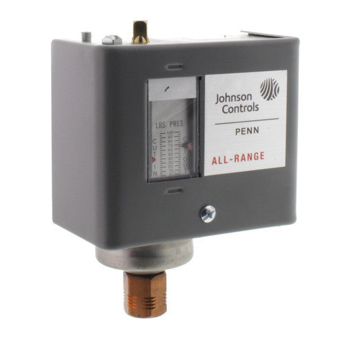 "Johnson Controls SPST Pressure Control 20""/100 psig (Differential 7/50 psi) P70CA-61C"