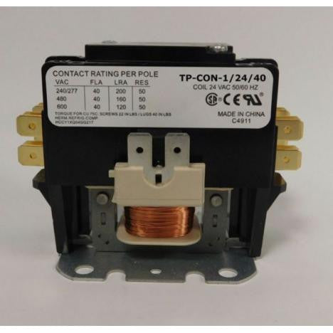 Trade Pro Contactor 40 amp 1 Pole 24V Coil-HVAC Parts Outlet