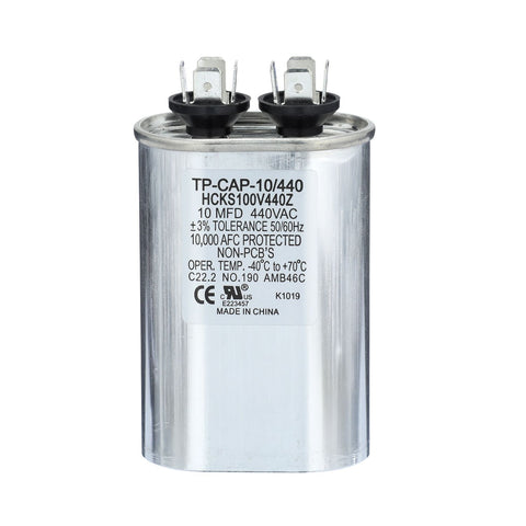 10 uf 370 /440 Volt Oval Run Capacitor-HVAC Parts Outlet