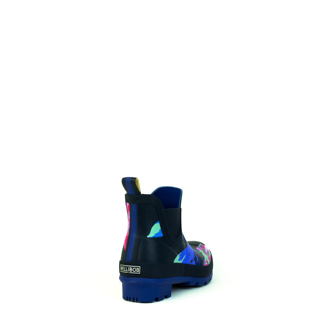 Joules Wellibob Navy Beau Pattern Welly