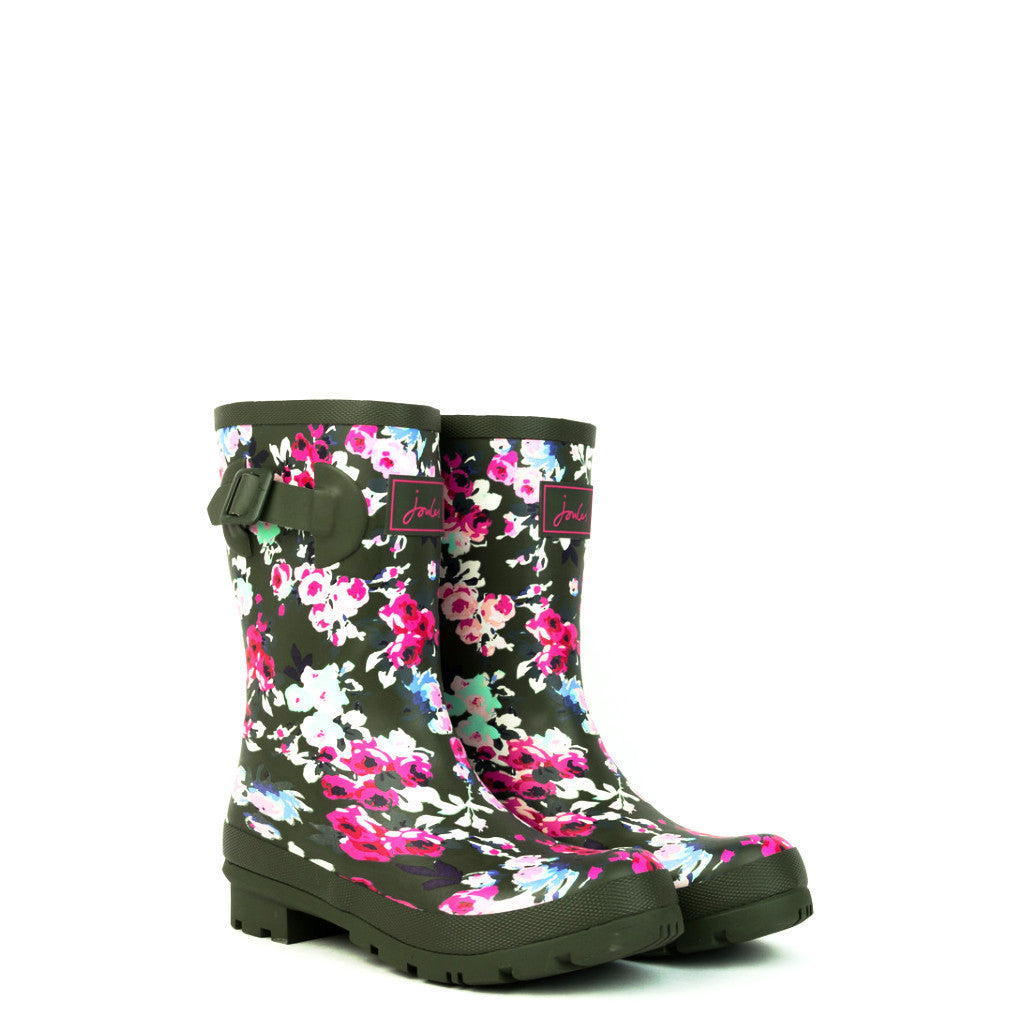 Joules Molly Mid-Height Khaki Pattern Welly