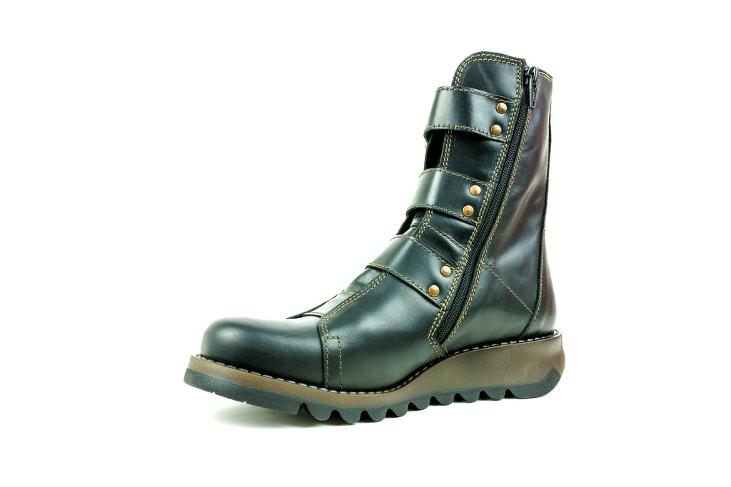 Scop110Fly Black Mid Calf Boot