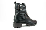 E5608 Black Ankle Boot - Walk Shoes