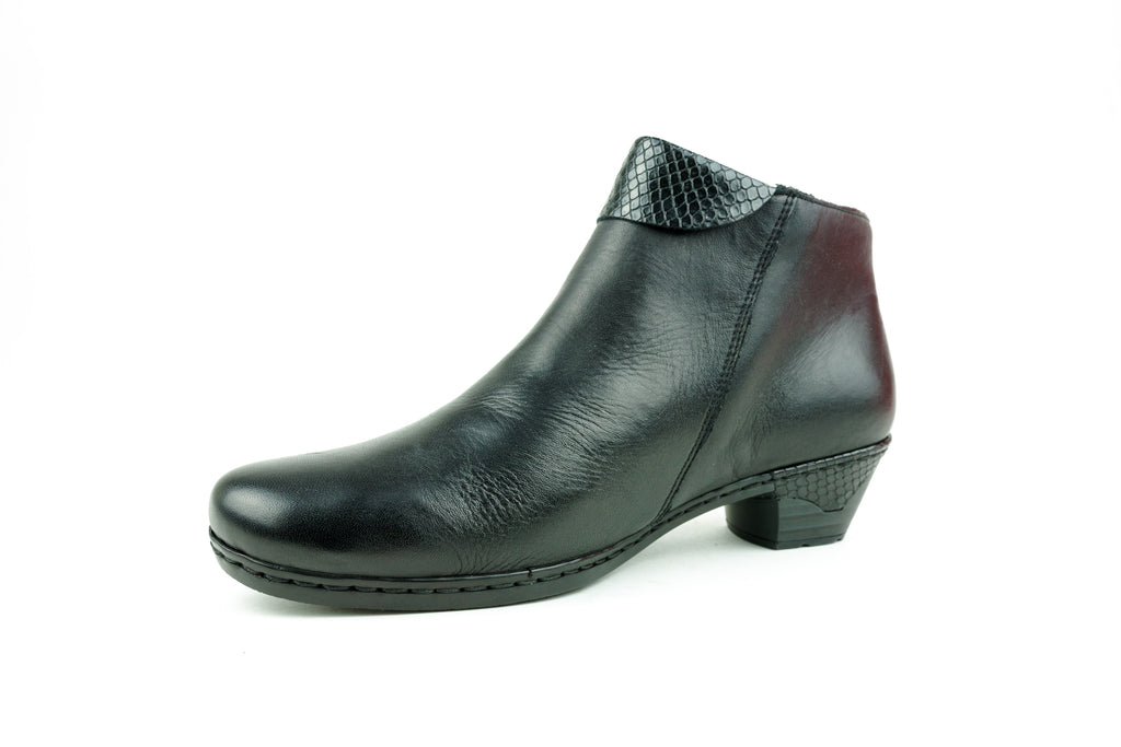 76961-00 Black Ankle Boot - Walk Shoes