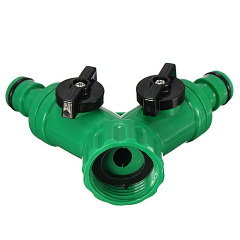 New Hot ABS Plastic Hose Pipe Tool 2 Way Connector 2 Way Tap Garden HOSEs PIPEs SPLITTERs Free Shipping