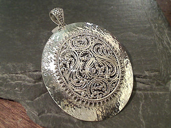 Extra Large Sterling Silver Pendant