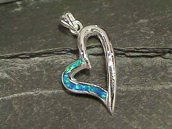 Created Opal, Sterling Silver Pendant