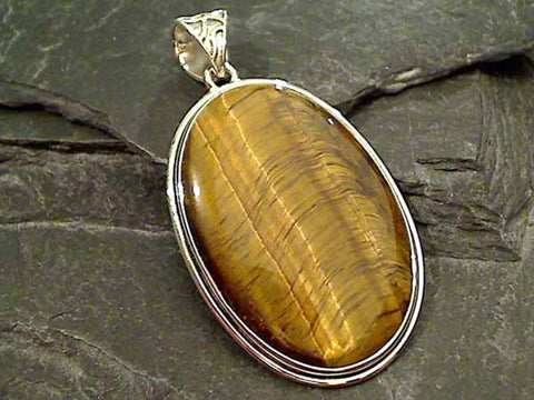 Tiger's Eye, Sterling Silver Pendant