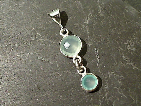 Chalcedony, Sterling Silver Pendant