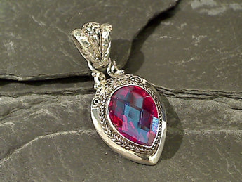 Rainbow Quartz, Sterling Silver Pendant