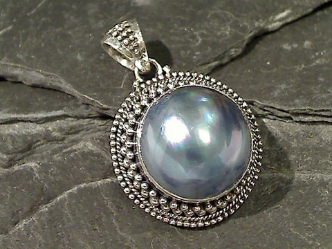 Mabe Pearl, Sterling Silver Pendant