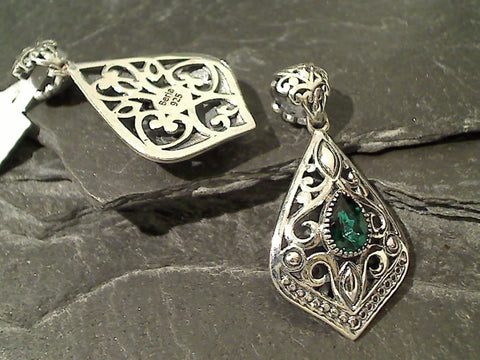 Green Quartz, Sterling Silver Pendant