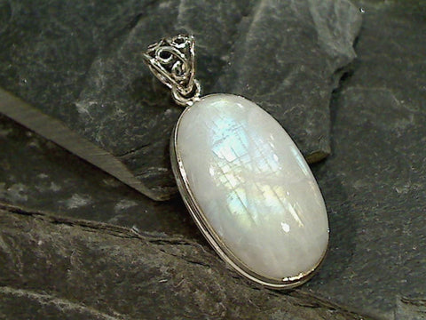 Moonstone, Sterling Silver Pendant