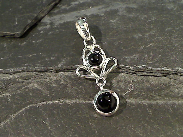 Onyx, Sterling Silver Pendant