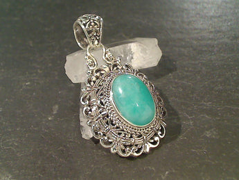 Amazonite, Sterling Silver Pendant