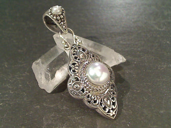 Pearl, Sterling Silver Pendant