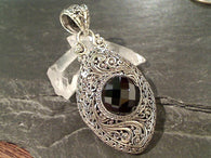 Black Spinel, Sterling Silver Pendant