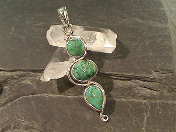 Turquoise, Sterling Silver Pendant