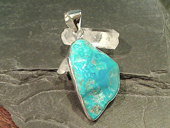 Sleeping Beauty Turquoise Fine Sterling Pendant