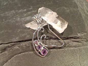Amethyst, Sterling Silver Horse Pendant