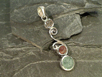 Tourmaline, Sterling Silver Pendant