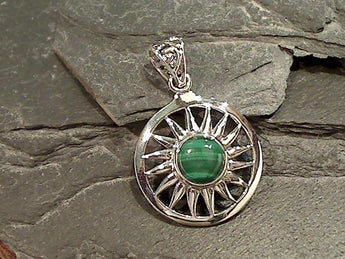 Malachite, Sterling Silver Pendant