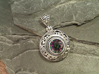 Mystic Topaz, Sterling Silver Pendant